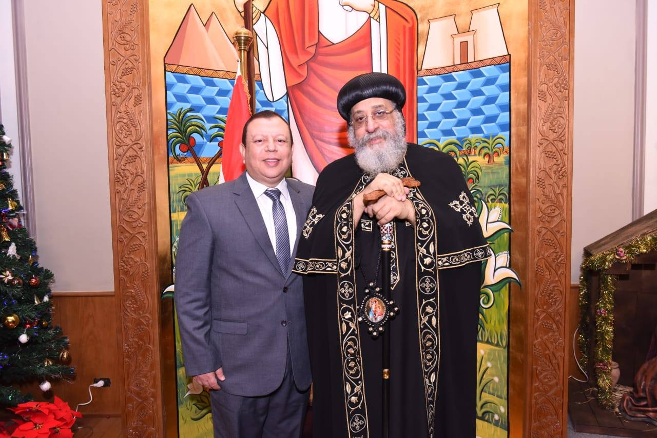 SFGM President, Michel Khalil, meets with Pope Tawadros II to discuss a strategic partnership.